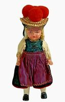"""Original celluloid doll German black forest national costume 6"""" high vintage"""