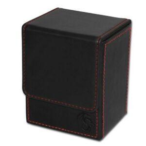 BCW Black Deck Case LX Gaming Card Leatherette Magic the Gathering Storage Box