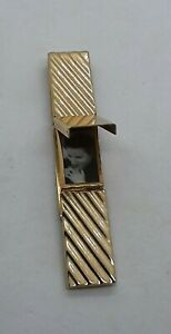 VTG RARE MCM 50's Swank Gold Filled Locket Picture Frame Compartment Money Clip