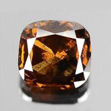 0.33 Carat 4.12x4.19x2.19MM NATURAL Cognac Brown DIAMOND for Setting Cushion