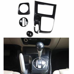 ABS Carbon Fiber Console Gear Shift Cover Trim Frame For Honda Civic 2006-2011