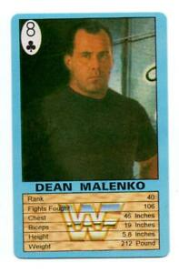 Dean Malenko WWF Playing Card Trump Game Pro Wrestling 8 Spades AEW WWE