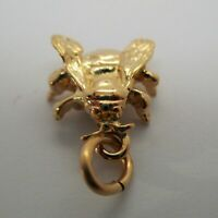 Sterling Silver BEE Charm for Bracelet INSECT 14k Gold Vermeil PENDANT Jewelry