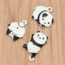 Enamel Cartoon Panda Alloy Charms Pendants Fashion  Jewelry Decor Making DIY 5x