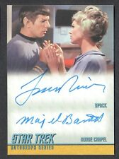 Star Trek Remastered TOS Dual Autograph Card Da6 Nimoy / Barrett