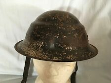 UNUSUAL WW2 1930's  PRIVATE PURCHASE CIVIL DEFENCE TYPE STEEL HELMET UK OR CHINA