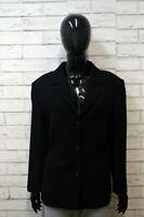 Giacca LUISA SPAGNOLI Nero Donna Jacket Woman Taglia Size L Blazer Lana Jacke