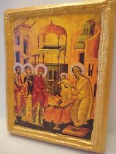 Hypapante Jesus at The Temple Candlemas Ypapanti Greek Orthodox Icon OOAK