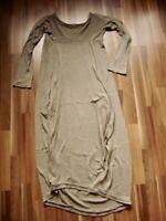 @ made in italy @ Kleid taupè Size M UK 10 US 8 Gr. 28 Strickkleid lang