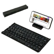 Folding Bluetooth Keyboard Wireless Mini Keyboard with Stand Portable Rechargeab