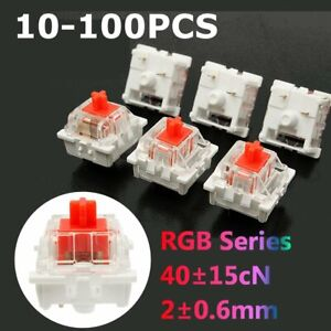 100x For Cherry 3 Pin MX RGB Mechanical Switch Red Gaming Keyboard Replacement