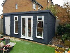 14x10 penthouse summerhouse / shed pvc doors windows