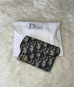 New Christian Dior Saddle Flap Card Holder