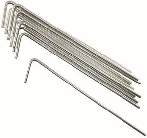 Heringe für Baum Tipi - 10 x 14,5 cm Verzinkt Stahl Zelthering