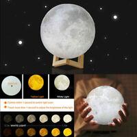 2020 3D LED Magical Moon Model Night Light Moonlight Table Desk Lamp Home Decor