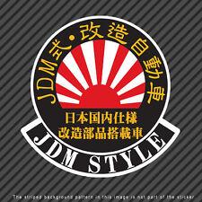 JDM Style Customized Tuned Car Japanese Kanji Decal Sticker Rising Sun P040