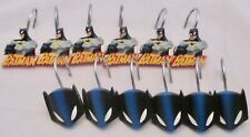 Dc Comics Batman Shower Curtain Hooks 12 pc Two Styles of 6 Each Resin