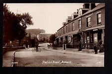 Askern - Station Road - real photographic postcard