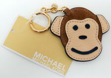 Authentic Michael Kors MK MONKEY BUSINESS Key Fob Charm Leather NWT $48