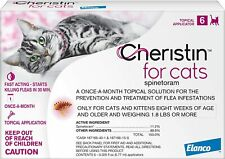 Cheristin For Cats Pack Flea Treatment Topical For Cats 1.8 lbs - 6 Count/New