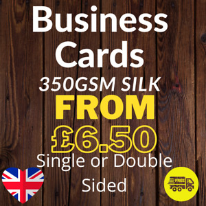 Business Card Printed Full Colour Single or Double Sided 350gsm Silk 85mm x 55mm
