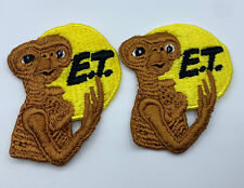 Vintage E T Patch Collectible Lot of 2 Patches Extra Terrestrial E.T.