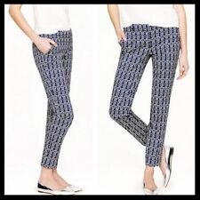 J.Crew Blue Cafe Capri In Rope Print Pants Size 6 Style