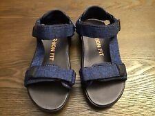 Champion Kids Cushion Fit Adjust Sandals Size 1 Blue & Black Color.