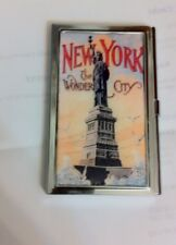 Retro NEW YORK CITY Statue of Liberty Business Card Holder Credit Card Case