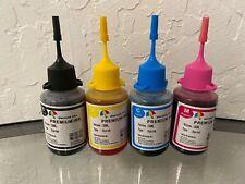 Refill Dye Ink for HP 63 HP 63XL Black Color Ink Cartridge 4x30ml Officejet 3830