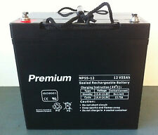 AGM  deep cycle  55AH 12V battery, Camping,  solar,  buggy, mobility scooter