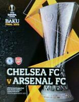 2019 EUROPA LEAGUE FINAL ARSENAL V CHELSEA - OFFICIAL MATCH PROGRAMME + POSTER