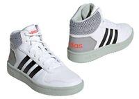Adidas HOOPS MID 2.0 K EE8545 Bianco Scarpe da Ginnastica Bambini Comode