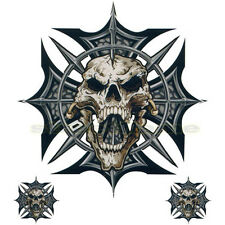 SKULL DECAL GRAPHIC MOTORCYCLE WINDSCREENS SURFBOARD CAR TRUCK RV SPIKE