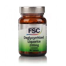 FSC Deglycyrrhized Liquorice 200mg 60 Tablets - Sugar Free Chewable