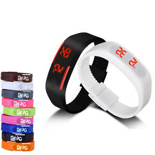 Stylish Womens Mens Waterproof Silicone Bracelet Digital LED Sports Wristwatches