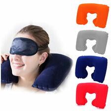 Portable Air Inflatable U-Shaped Neck Pillow Head Rest Cushion for Travel Office
