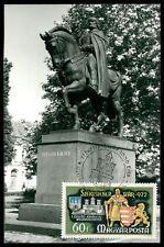 UNGARN MK 1972 DENKMAL MONUMENT REITER PFERD MAXIMUMKARTE MAXIMUM CARD MC da29