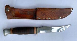 Vintage Kabar 1233 USA Fixed Blade Hunting Knife In Original KA-BAR Sheath