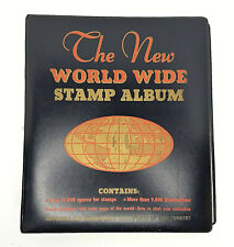 The New World Wide Stamp Album Minkus Publications Book Color Map 1965 Unused