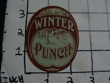 Original Vintage label: WINTER PUNCH