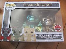 FUNKO Pop 3 Pack DROGON RHAEGAL VISERION Game of Thrones EB Games Exclusive NEW