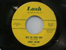 SONNY FULTON Here She Comes Now/ A Lovely Relationship RARE Doo-Wop 45 LASH 1127