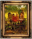 Brown The Cider Mill 1880 Framed Canvas Print Repro 12x16