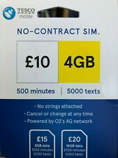 TESCO Mobile sim card 3 in 1 superfast 4G (ROCKET PACK) £10 Now 500 Mins 4GB !