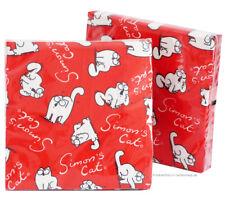 40 Stück (2 Packs) Simon's Cat SERVIETTEN rot viele Katzen, Simons Katze Motiv