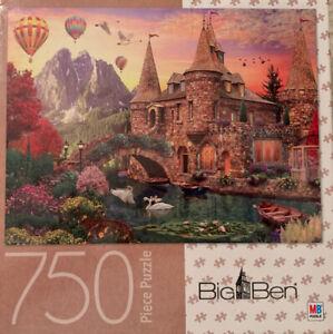 """BIG BEN Luxe Puzzle 750 Piece """"Castle #2"""" Milton Bradley COMPLETE Rare"""