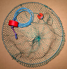 "Handmade 20"" Collapsible Crawfish Net - Dock Pier Scoop Cast Dip Landing Net"