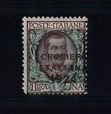REGNO - 1924 - 1 Lira Crociera Italiana(167b) soprastampa spostata a destra - MH