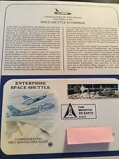 SPACE SHUTTLE ENTERPRISE    FIRST DAY OF ISSUE